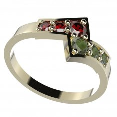 BG garnet or moldavit ring 690