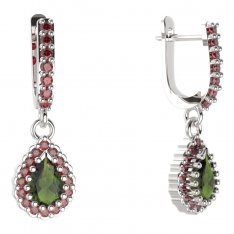 BG drop stone earring 454-84