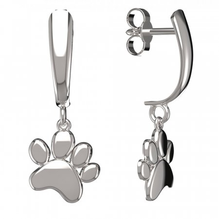 BeKid, Gold kids earrings - - Switching on: Hinge clip D03, Metal: White gold 585