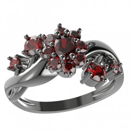 BG ring oval 627-P - Metal: Silver - gold plated 925, Stone: Moldavite and cubic zirconium