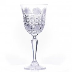 Set of two crystal hand cut wine glasses Šafránek 612 ORQQI0383