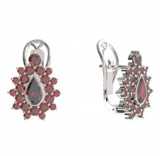 BG  earring 147-R7 drop stone