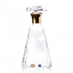 Hand engraved crystal bottle Aida figure + gold SRQAGDR03