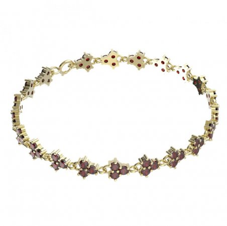 BG bracelet 195 - Metal: Yellow gold 585, Stone: Garnet