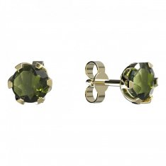 BG moldavit earrings -872