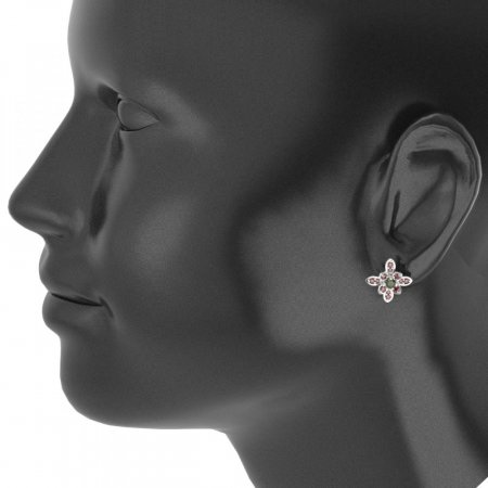 BG earring flower  404-R7