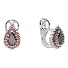 BG  earring 454-R7 drop stone