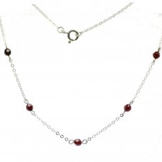 BG garnet necklace 031B
