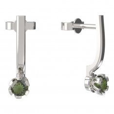BG moldavit earrings -869