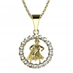 BeKid, Gold kids pendant - 044 Aquarius