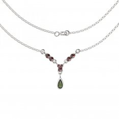 BG garnet necklace 256