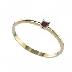 BG gold ring garnet 904