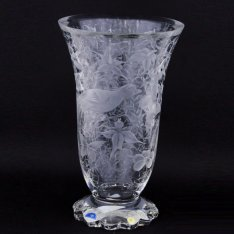 Exclusive hand engraved crystal vase birds + flowers 3822 Šafránek ORQQI0473