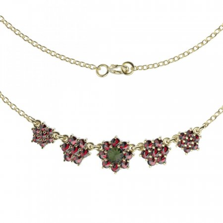 BG necklace 011 - Metal: Silver 925 - rhodium, Stone: Garnet