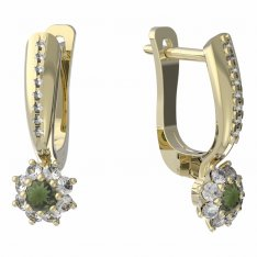 BG moldavit earrings -886