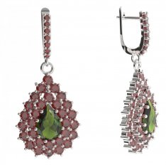 BG drop stone earring 187-84