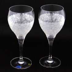 Set of two crystal hand cut wine glasses Šafránek 640