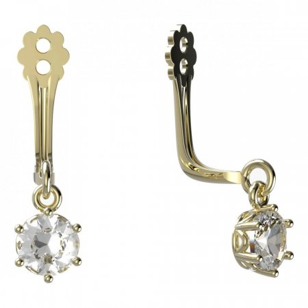 BeKid Gold earrings components I4 - Metal: Yellow gold 585, Stone: White cubic zircon