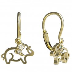 BeKid, Gold kids earrings -1158