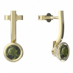 BG moldavit earrings -557