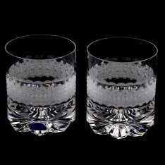 Set of two crystal hand cut glasses Šafránek 626