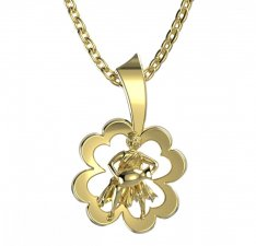 BeKid, Gold kids pendant - 041 Aquarius