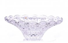Hand cracked crystal bowl Šafránek 514 ORQQIDM12