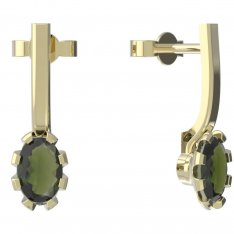BG moldavit earrings -560