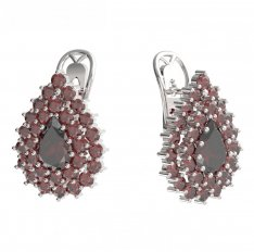 BG  earring 187-R7 drop stone