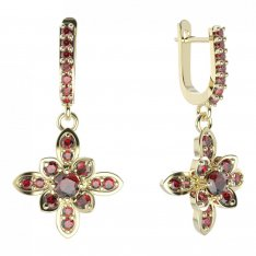 BG earring flower 404-84