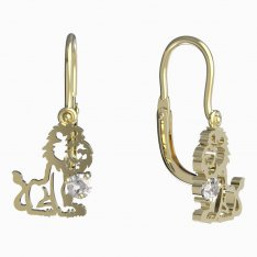 BeKid, Gold kids earrings -1191