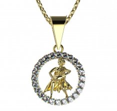 BeKid, Gold kids pendant - 052 Aquarius