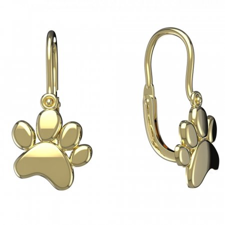 BeKid, Gold kids earrings - - Switching on: Brizura 0-3 roky, Metal: Yellow gold 585
