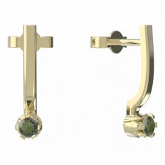 BG moldavit earrings -553