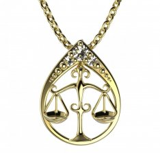 BeKid, Gold kids pendant - 047 Scales
