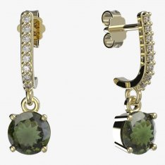 BG moldavite earrings - 727