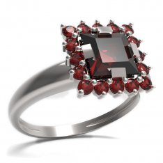 BG ring square stone499-I