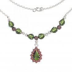 BG necklace with moldavite 254/186