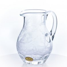 Hand engraved crystal pitcher Aida figure SRQA0DR27