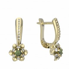 BG moldavit earrings -878