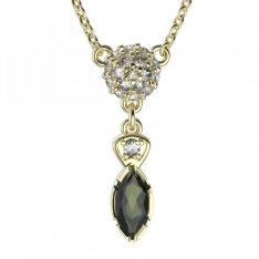 BG necklace with moldavite 954