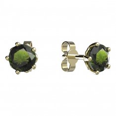 BG moldavit earrings -875