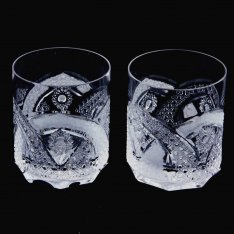 Set of two crystal handmade whiskey Šafránek 906 ORQQI0067