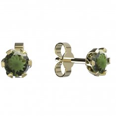 BG moldavit earrings -870