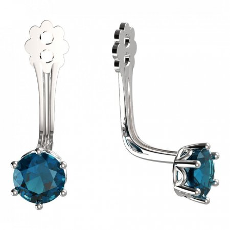 BeKid Gold earrings components 4 - Metal: White gold 585, Stone: Pink cubic zircon