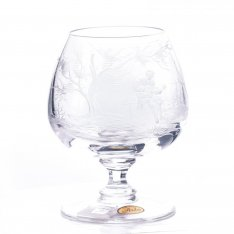 Set of two and engraved crystal wine cups Aida figure SRQA0KV07