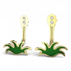 BeKid Gold earrings components - Grass