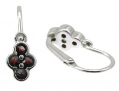 BG garnet children's earrings 295