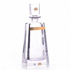 Hand engraved crystal bottle Aida figure + gold SRQAGDL08