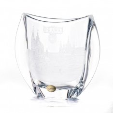 Hand cut crystal vase Prague SRQV00001
